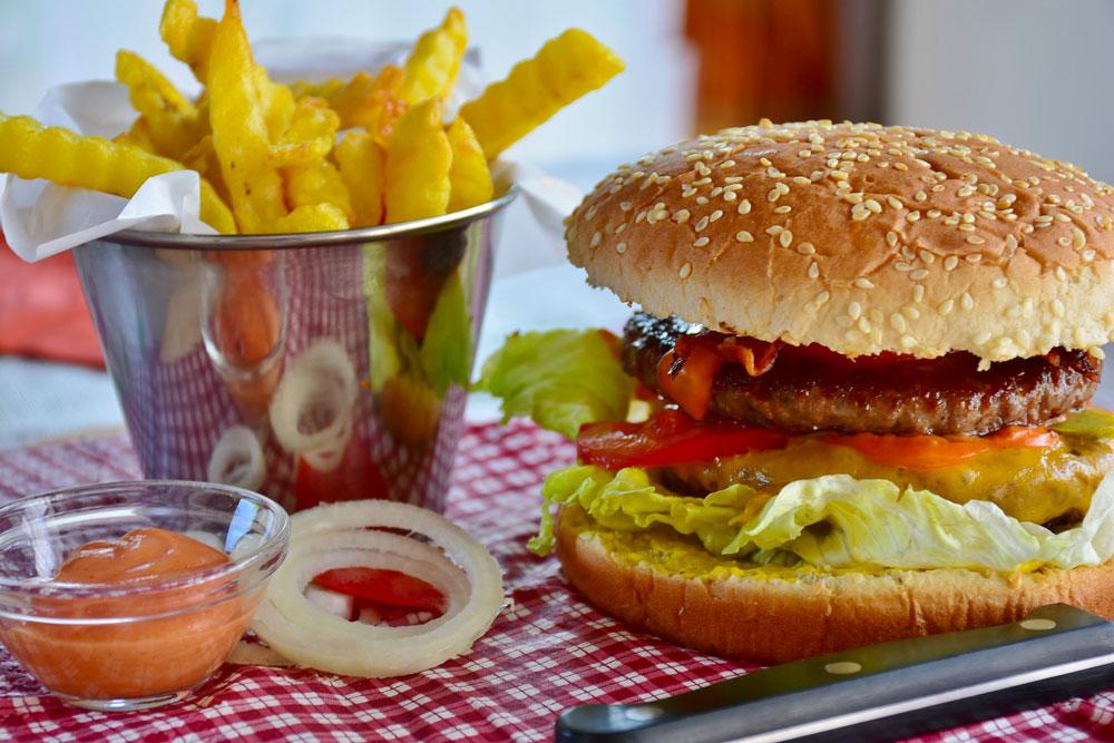 burger cafétéria